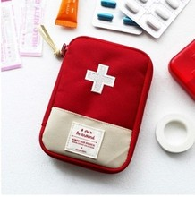 Portable Mini First Aid Kit Emergency Medical Kit Survival Bag Empty Medicine First  id Bag Travel Outdoors Pill Storage Bag