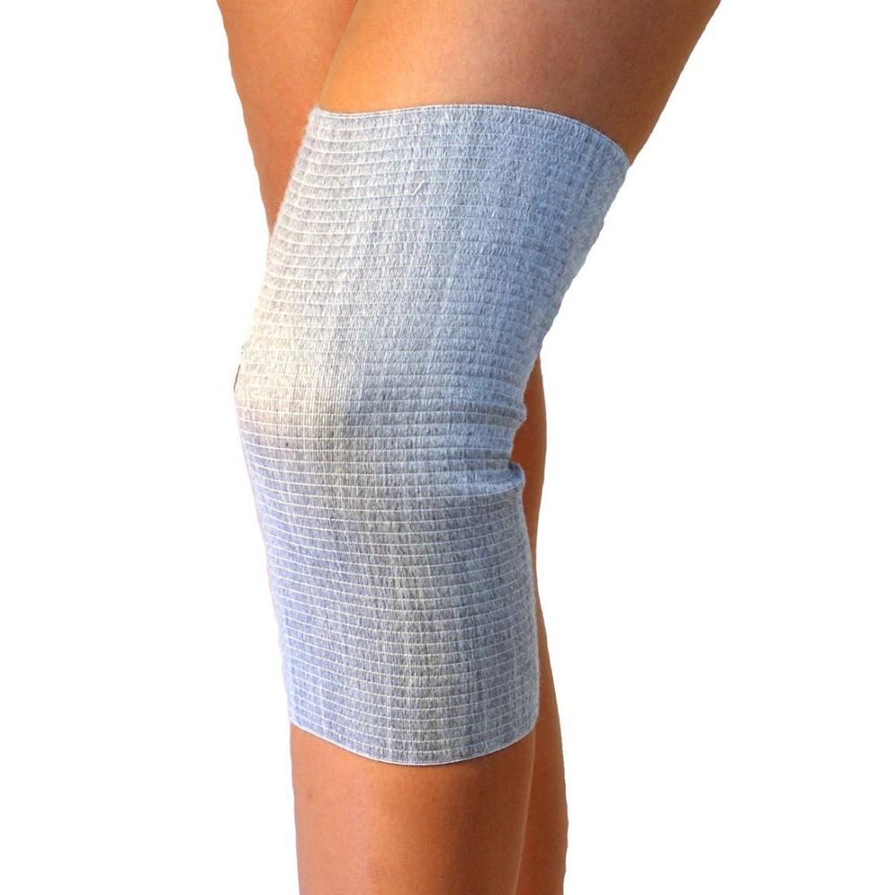 Knee heating, neck joint, cold treatment, health, foot care keep warm, gift, knee strap with sheep wool, L 42-46 , Ecosapiens