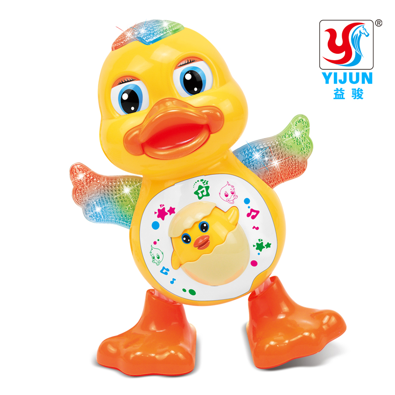 YIJUN TOYS Baby Toys EQ Flapping Yellow Duck Infant Brinquedos Bebe Electrical Universal Toy For Children Kids 1-3 Years Old