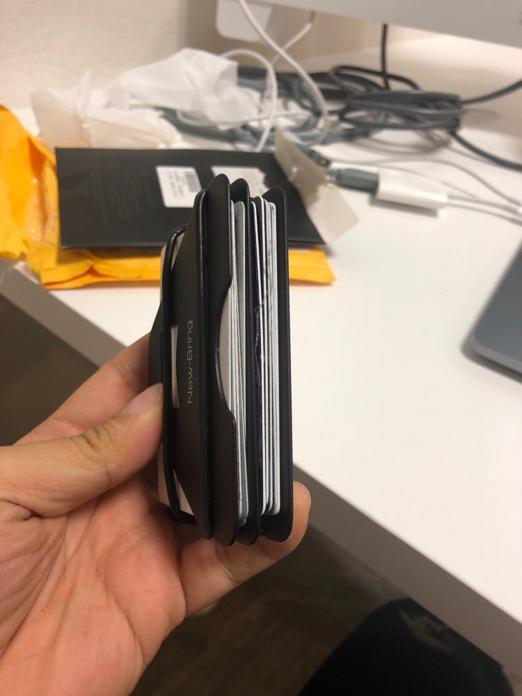 Multiple Function Metal Credit Card Holder Black Pocket Box Business Cards Id Wallet With Rfid Anti Thief Wallet For Men photo review