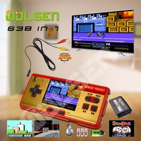 High quality handheld game consoles handheld color video game children gifts classic 638 in 1 game