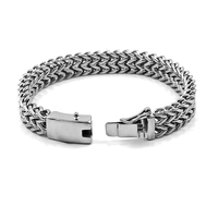 Classic 316L stainless steel Buddha bracelet men's Buddha bracelet 12 mm width wrist band Buddha bracelet jewelry gift 014