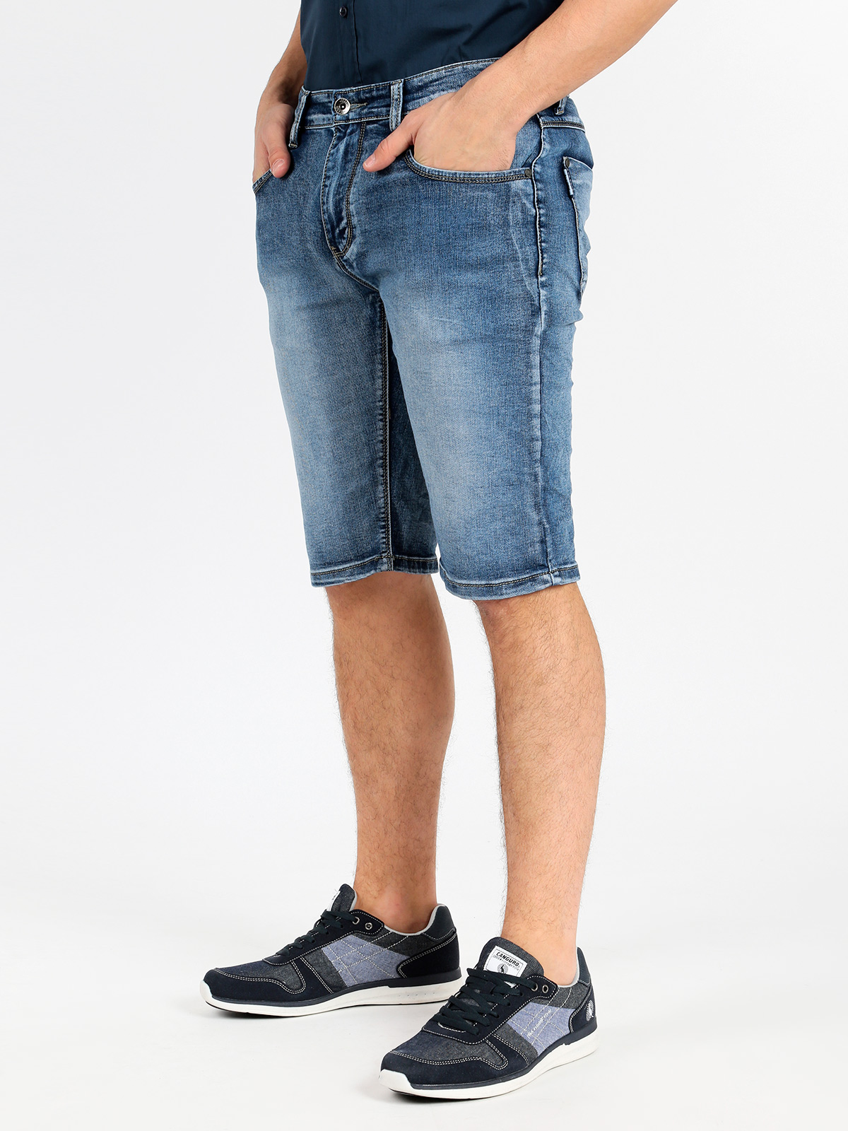 Bermuda Jeans Elasticizzatiì