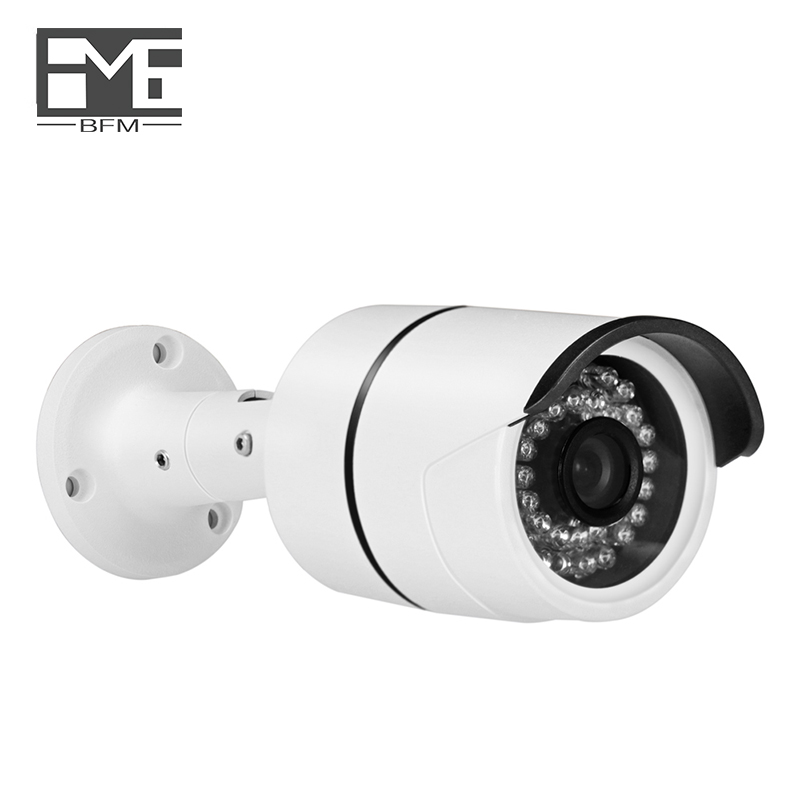 BFMore With POE Audio IP Camera H.265/H.264 5.0MP Security cameras Safety Outdoor Indoor Waterproof 48V IR Night Vision One-way цена