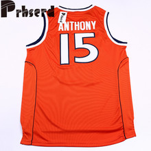 0e42ab6dc ... Mens 15 Carmelo Anthony College Embroidered Throwback Basketball  Jerseys Throwback Mitchell and Ness Syracuse ...