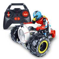 Flytec 989 333 2 4G Amphibious Three Wheel Drive Stunt RC Motorcycle Boat Toys With LED