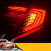Car Styling for Honda Civic Taillights 2016-17 LED Brake lights Tail Lamp Rear DRL+Brake+Park+Signal DRL