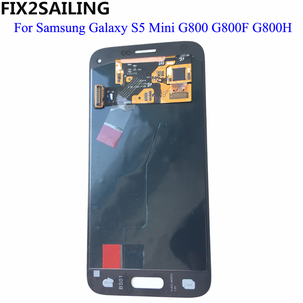 For Samsung Galaxy S5 Mini G800 G800F G800H 100% Tested Working Super AMOLED LCD Touch Screen Assembly Digitizer