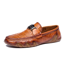 Genuine Leather Loafers Men Causal slipon shoes