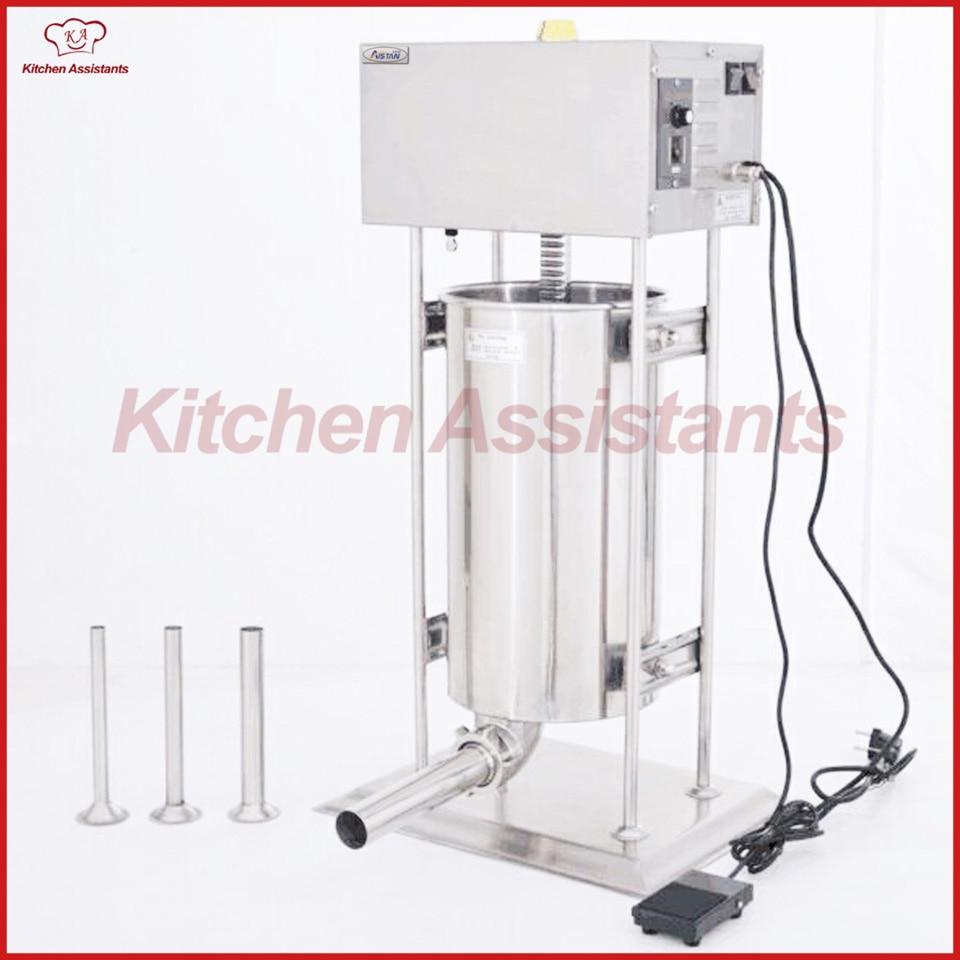 TV20L electric commercial automatic lem sausage filler machine sausage stuffer maker цена и фото