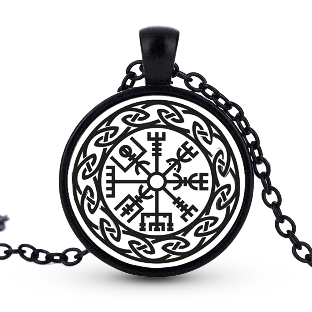 Time Necklace Myth Symbol of Norse man necklace Warrior Scandinavian Amulet Ethnic Viking jewelry necklace pendant