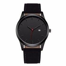 2018 Fashion Large Dial Military Quartz Men Watch Leather Sport watches Complete Calendar Clock Wristwatch Relogio Masculino цена и фото