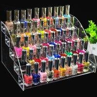 Fashion Clear 5 Layers Nail Polish Rack Varnish Display Makeup Storage Shelf Cosmetic Organizer Household Storage