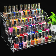 Fashion Clear 5 Layers Nail Polish Rack Varnish Display Makeup Storage Shelf Cosmetic Organizer Household Storage Container