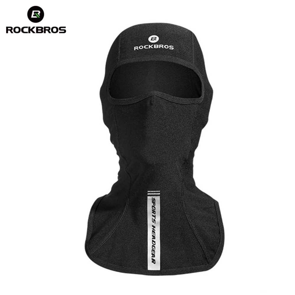 цена на ROCKBROS Thermal Skiing Bibs Windproof Snowboard Cap Ski Face Mask Winter Scarf Neck Warmer Cycling Bicycle Cap Camping Headgear