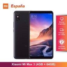 [Глобальная версия для Испании] Xiaomi Mi Max 3 (Memoria interna de 64 GB, ram de 4 GB, Bateria de 5500 mAh, Pantalla de 6,9 «)