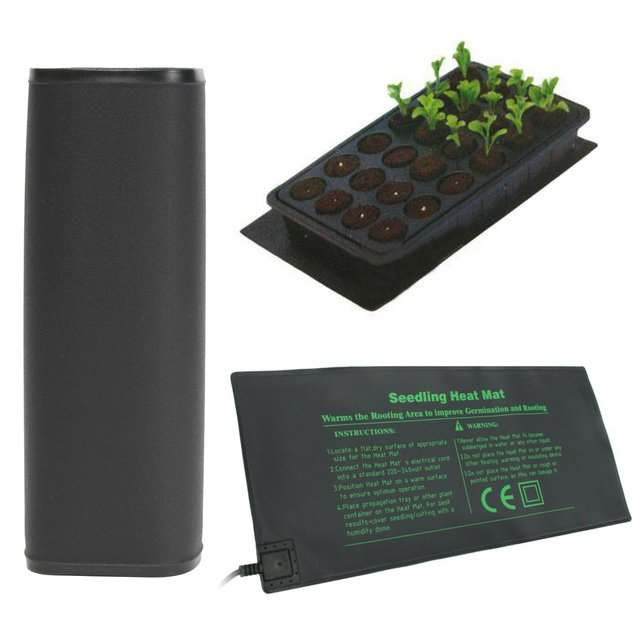52X24cm PVC Waterproof Seedling Heat Mat Seed Starting Germination Mat For Propagation Cloning Garden Supplies 110V/220V 18W