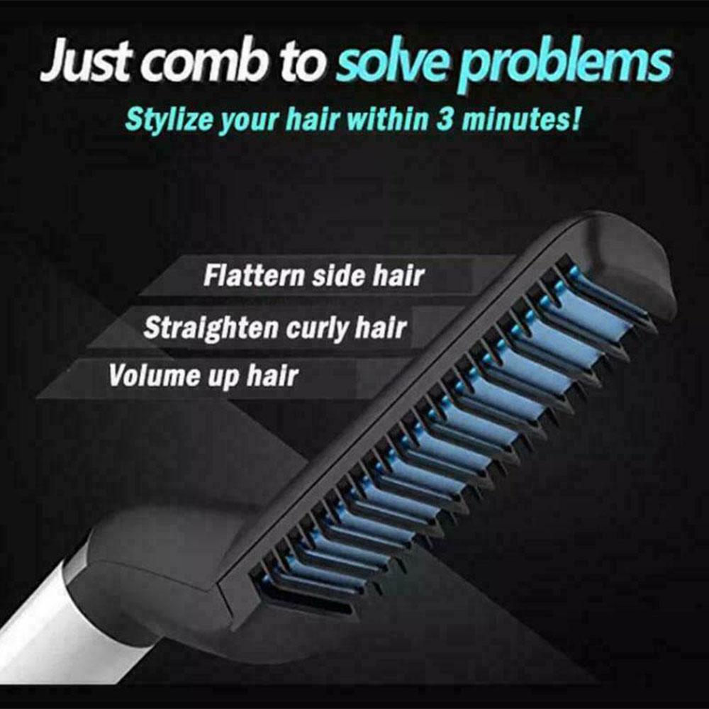 Multifunctional Brush Beard Straightener With Hair Comb Straightening Hair Styler For Men 7