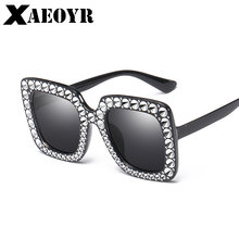 31f89dd7537 2018 Luxury Italian Brand Sunglasses Women Crystal Square Sunglasses Mirror  Retro Full Star Sun Glasses Female Black Grey Shades
