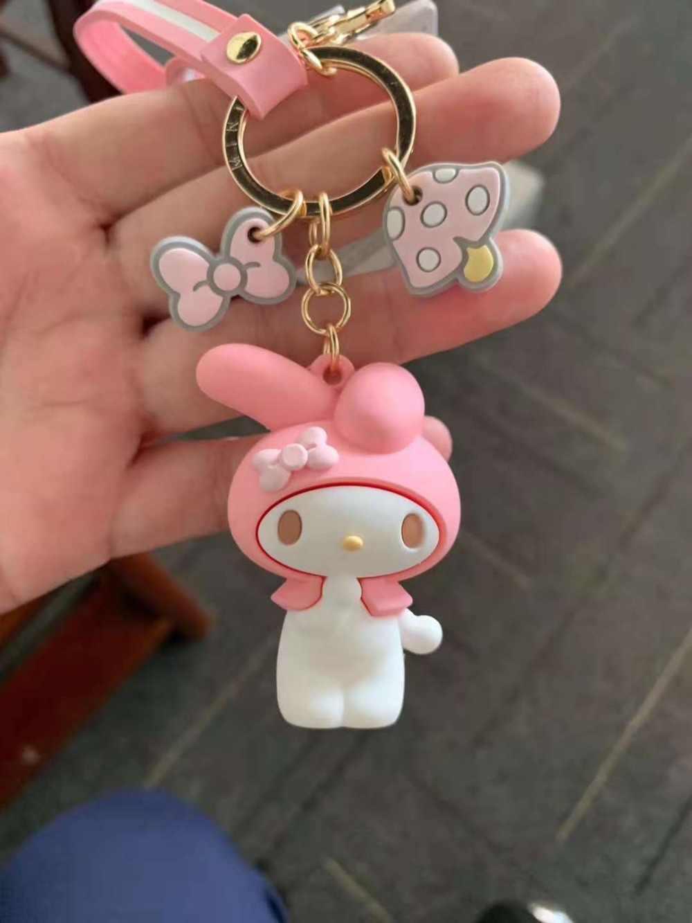 2019 nova DS3!!! Keroppi olá k melody PVC Keychain Corda Do Telefone Strap Charme Cords Lariat Talabartes Clipe Brinquedos figura Da Boneca