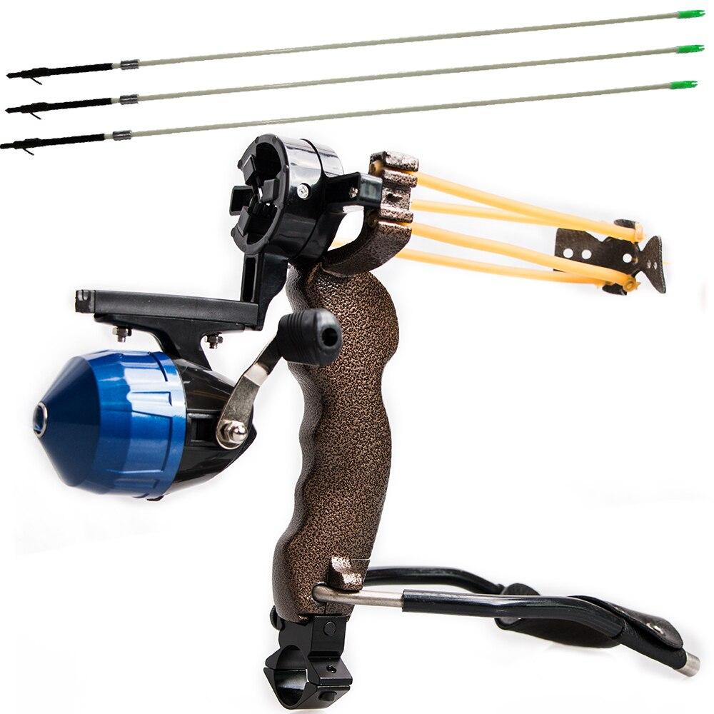 Alta Poderosa Pesca Catapult Slingshot 3 PCS Seta Alvo Profissional Caça Tiro Tiro com arco Arco Flecha Ao Ar Livre 6mm Seta