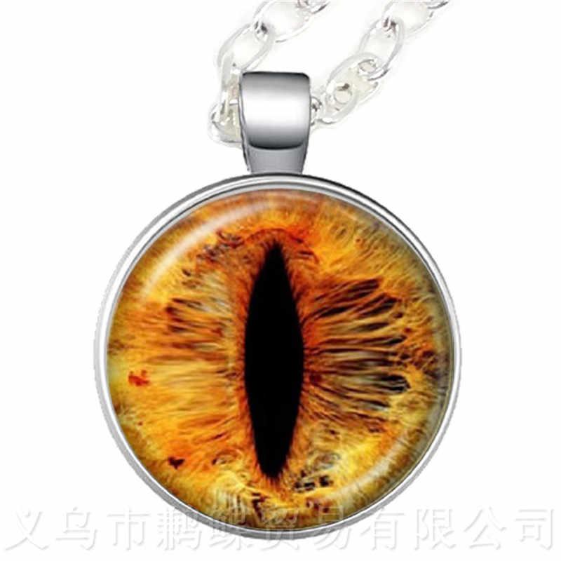 אופנה צבעוני עין רעה שרשרת יפה בעלי החיים הדרקון חתולי העין לב 25mm זכוכית קרושון סוודר שרשרת מתנה בשבילה