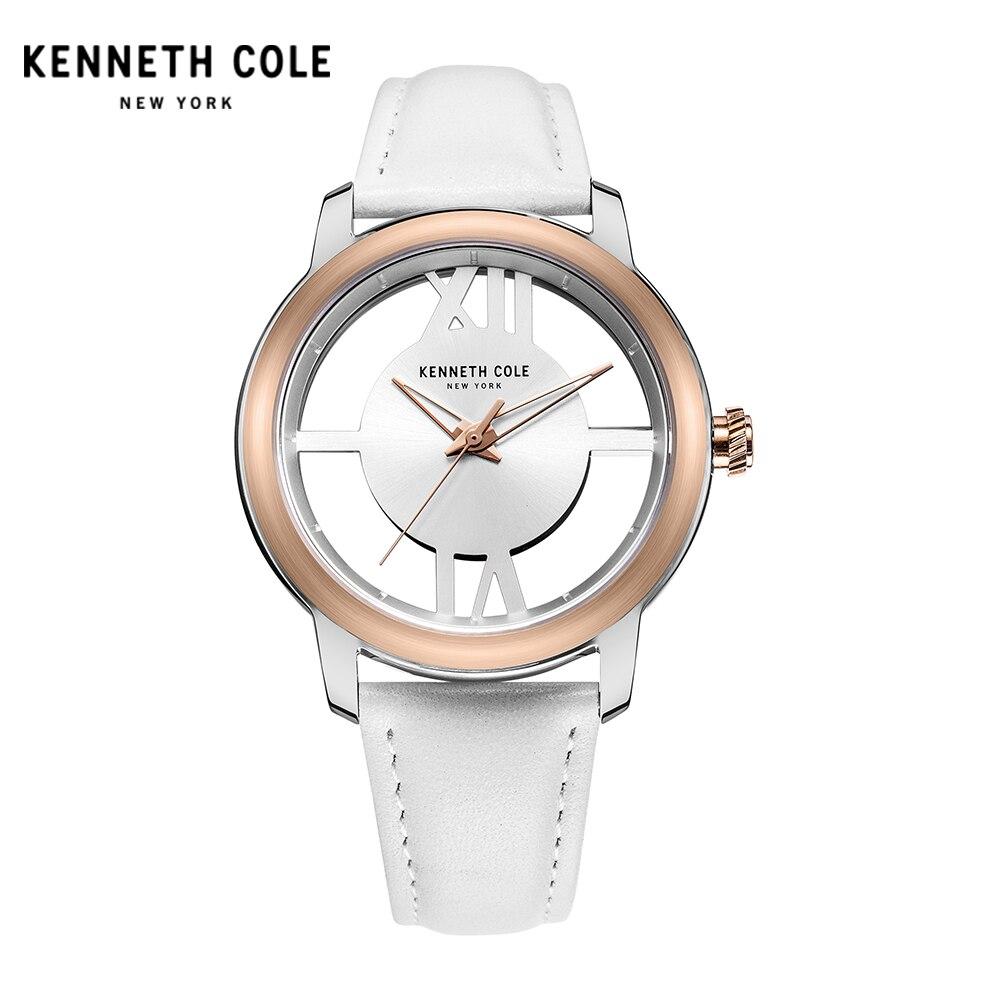 где купить  Kenneth Cole Women Watch Quartz Leather Band Water Resistant Watches Elegant Hollow See-through Women's Watches KC10024374  по лучшей цене