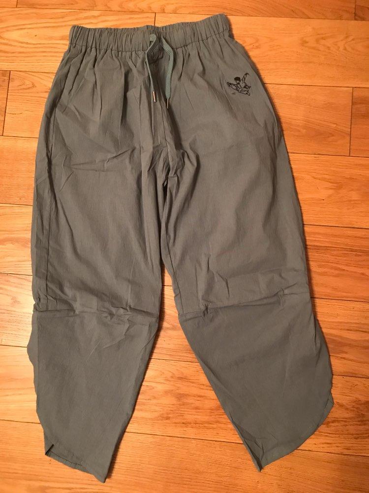 Baggy Pants Cotton Wide Leg Harem Pants Summer Elastic Waist Pocket Streetwear Pantalon Women Clothes photo review