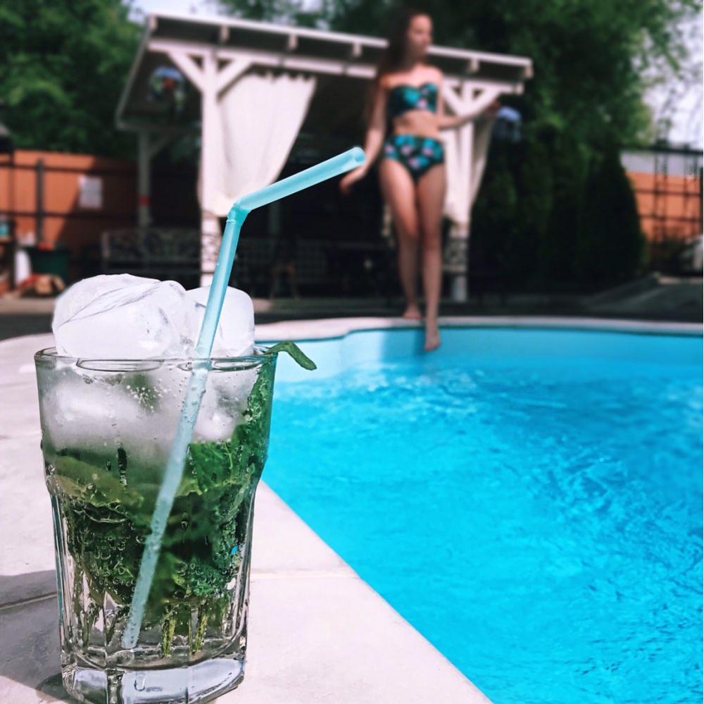 Купальник с высокой талией, новинка, бикини с принтом в виде листьев, женский купальник, Ретро стиль, купальный костюм с лямкой через шею, бикини, Maillot de bain femme