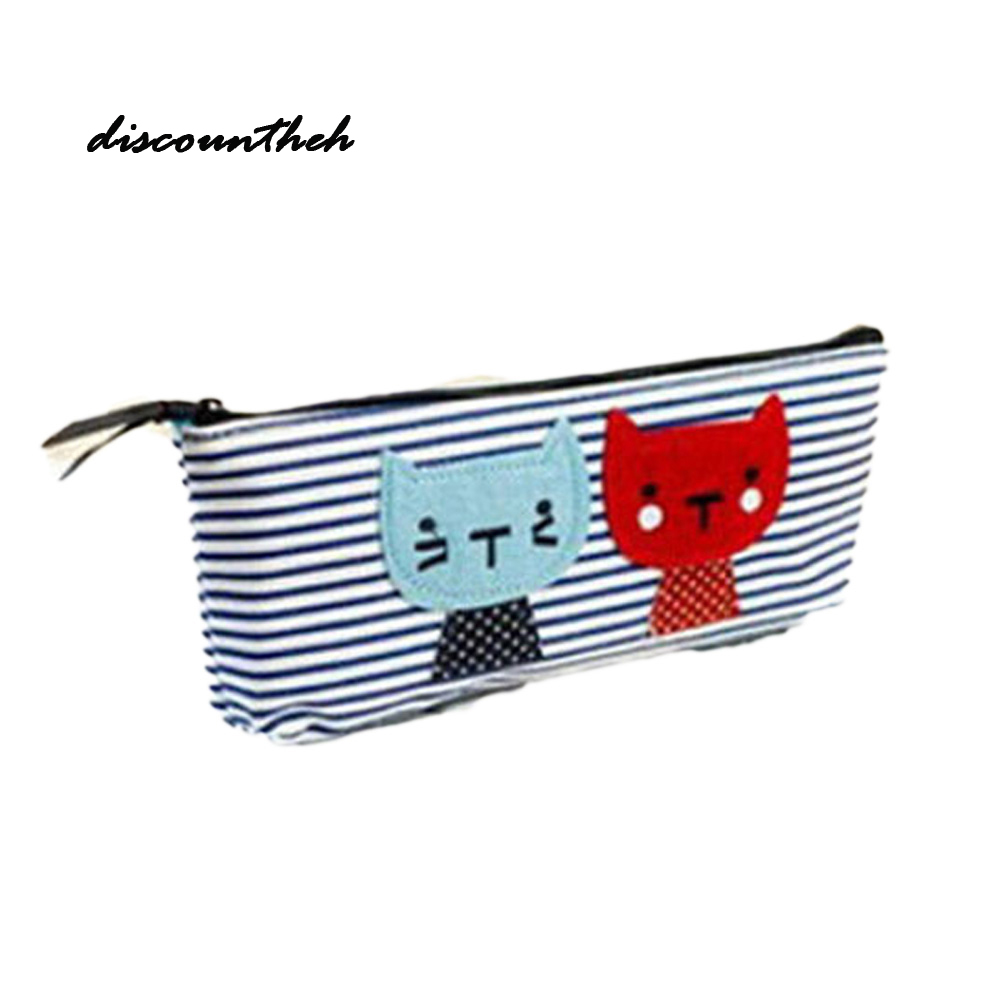 Cute Cat Printed Zipper Coin Purses For Kids Students Wallet Cartoon Wallet Bag Coin Pouch Children Purse Holder Color Randomly new cute hello kitty handbag pink red girls purse cartoon cat coin bag ladies keychain wallets zipper key holder cash case