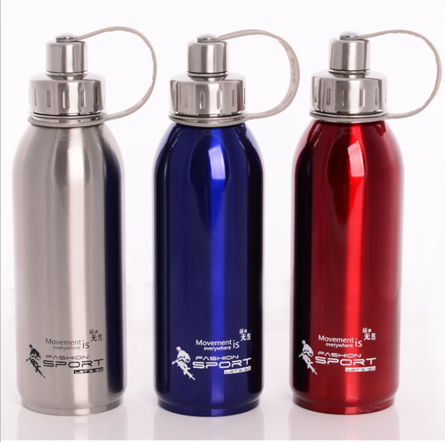1L Portable Stainless Steel Water Bottle Drinking Outdoor Kettle Sports Flasks Travel Cycling Hiking Fashion Camping Bottles