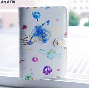 Image 2 - Yiwi A6 كوكب ستار طباعة مخطط غطاء لطيف الإبداعية دفتر اليوميات مع هدايا