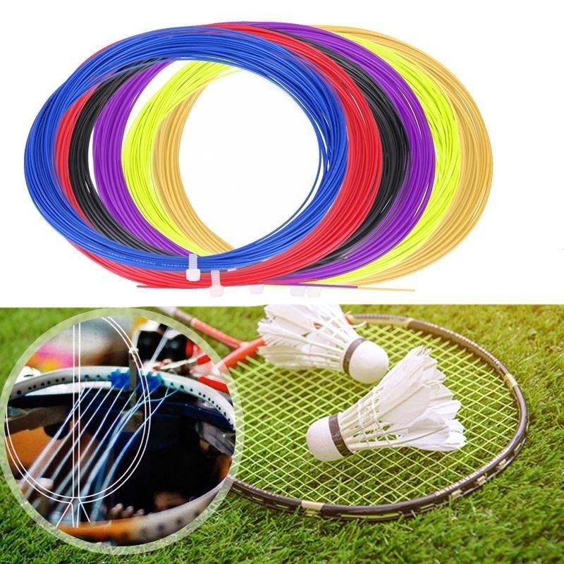 Badminton Schläger 10 Mt Für Erwachsene Attraktiv Und Langlebig SchöN 20-26lbs Nylon Badminton Schläger Ersatz String Professionelle Licht Graphit Schläger Mit String 0,7mm