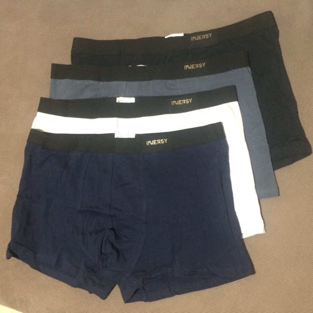 Innersy Panties Mens 4Pcs\lot Underwear Soft Boxers Modal Boxer Men Solid Boxer Shorts Plus Size Boxers Mens Underwear Lot