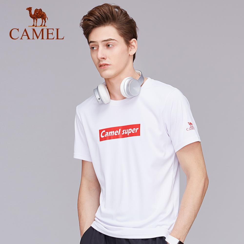 CAMEL Men Women Outdoor T-shirt Summer Anti-mosquito Technology Breathable Quick Dry Sport Running Casual O-neck Tops Shirt