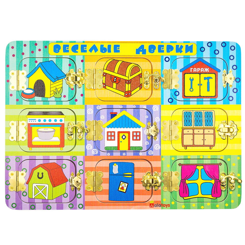 Puzzles Alatoys BB204 play children educational busy board toys for boys girls lace maze 1 piece baby wooden toys magnetic fishing game jigsaw puzzle board 3d jigsaw puzzle children education toy for children