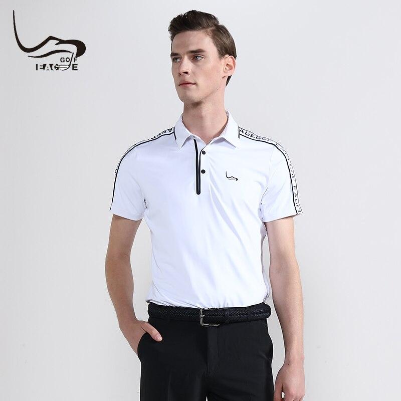 2019 Summer New EAGEGOF Men Golf Shirt Short sleeve Quick Dry Sweatshirt Fashion Male Golf training