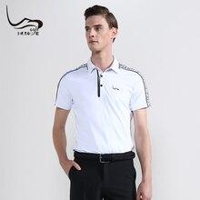Летняя новая EAGEGOF рубашка для гольфа мужская быстросохнущая толстовка с коротким рукавом модная мужская тренировочная одежда для гольфа