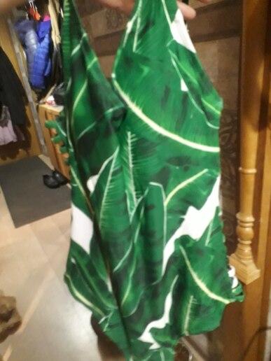 2018 г. пикантные Одна деталь Плавание костюм Для женщин Плавание одежда зеленый лист боди повязку вырезать летние пляжные ванный комплект Плавание Монокини Плавание костюм