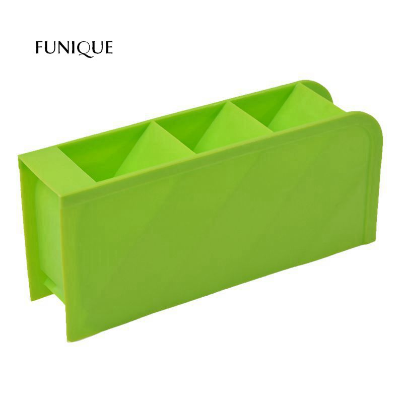 FUNIQUE Green Candy Color Multi-function Four Grid Debris Stationery Space Sundries Kitchen Office Storage Box Cosmetics Storage