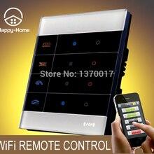 Wllpad белое стекло мобильный беспроводной пульт дистанционного управления светильник переключатель Android IOS, Gsm Zigbee 4 банды Wifi Пульт дистанционного управления переключатель