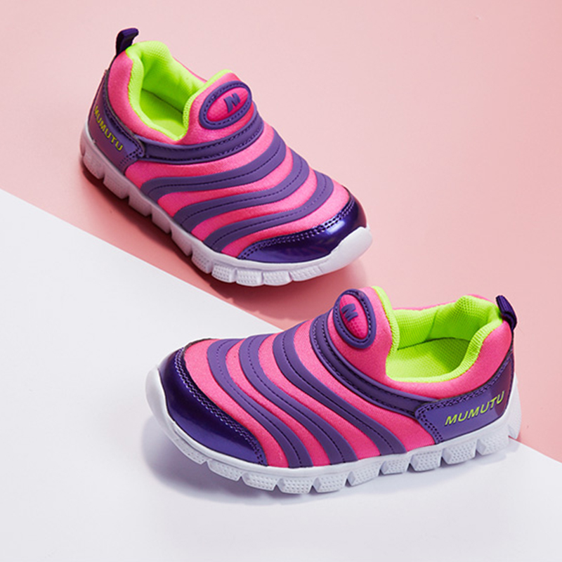 Odorless soft standard size children like Kids sneakers breathable anti wear casual light running shoes B613 in Sneakers from Mother Kids