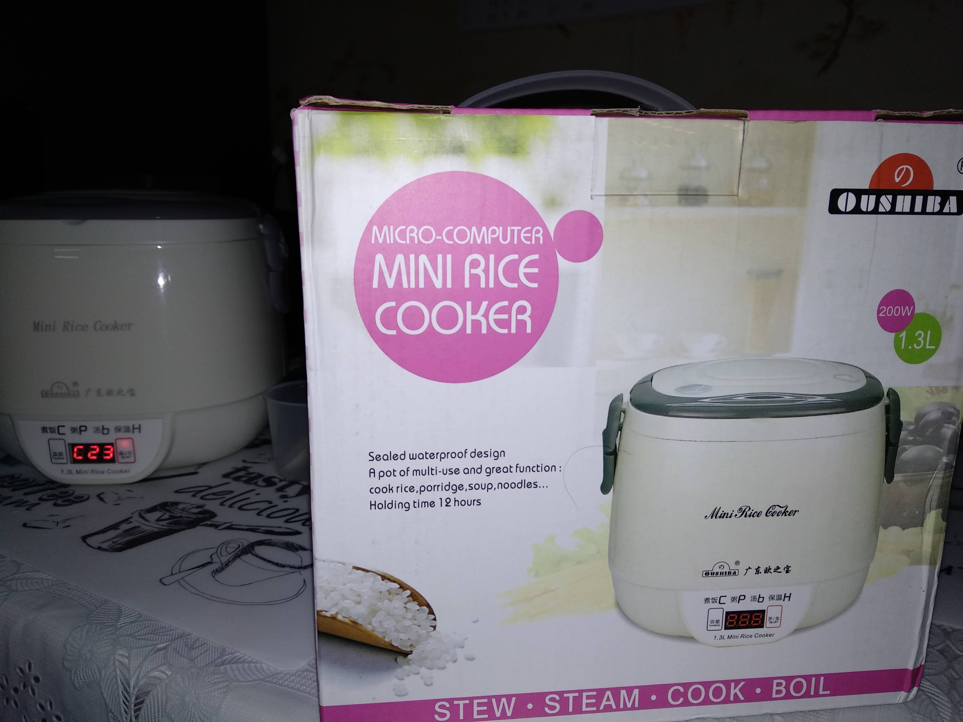 Digital Mini 1.2L Rice Cooker and Steamer Non Stick with Keep Warm Function Premium Inner Pot 1-2 Persons 200W,Pink