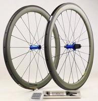 High Quality 100% Kevlar Carbon Ti hubs Carbon Fiber Kevlar Clincher 50mm Carbon Road Wheelset Bicycle Wheels 25mm Wideth Rims
