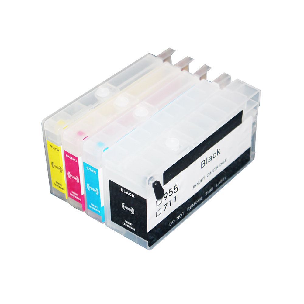 CISSPLAZA compatible For HP 953 954 955 952 Refillable Ink Cartridge for Officejet Pro 8730 8740
