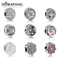 DORAPANG Genuine 925 Sterling Silver Family Dad Mom Charm Charm Flower Type Beads Fit Bracelet DIY
