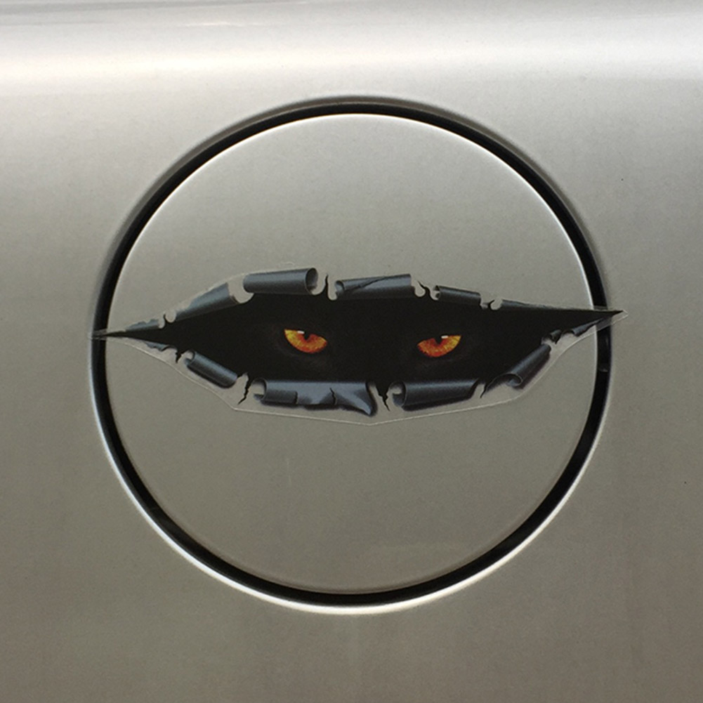 Cat Eye Peeping 3D Car Rearview Mirror Sticker Decal Scratch Cover Car-styling Reflective Strips Motorcycle Auto Sticker retro cat eye mirror reflective round sunglasses