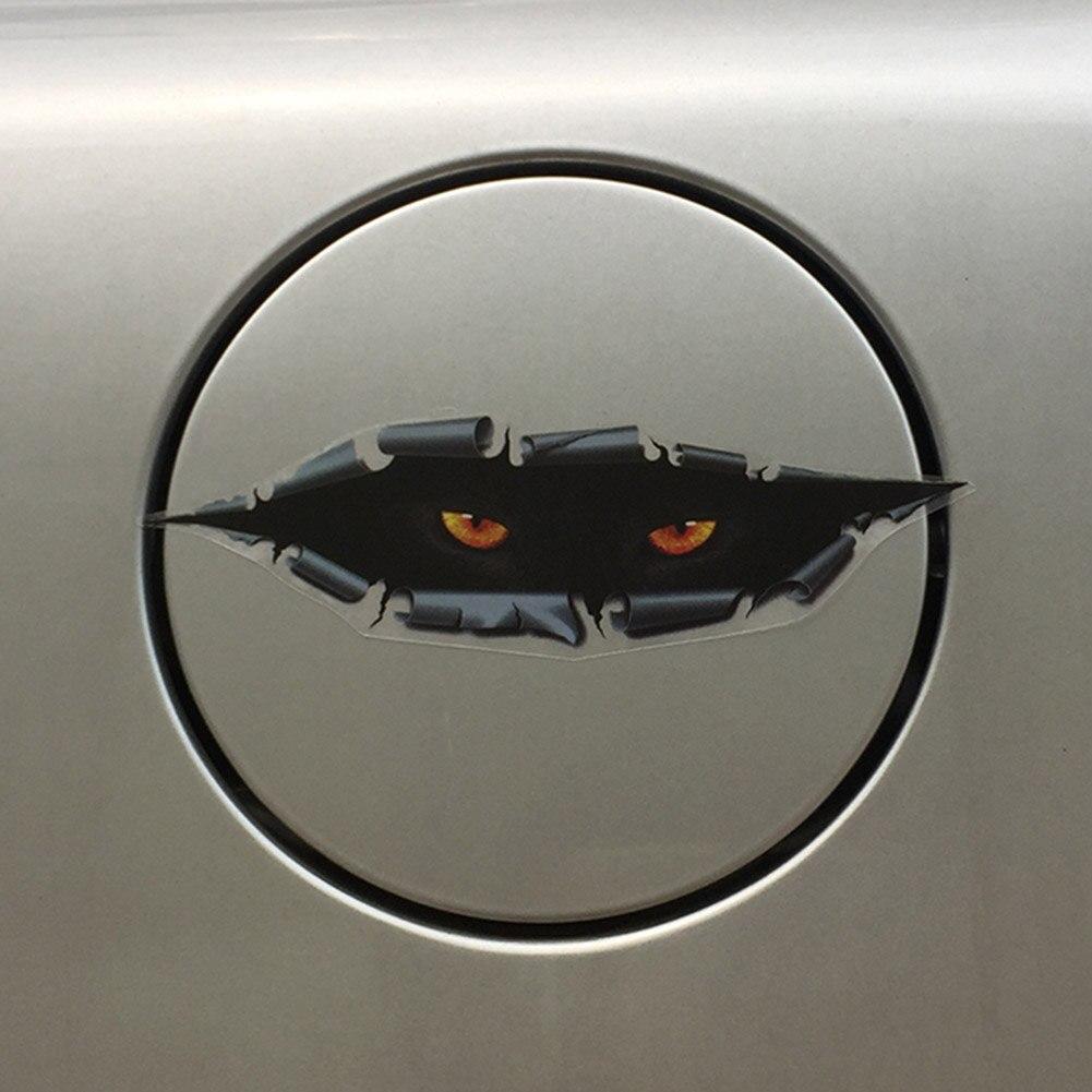 Cat Eye Peeping 3D font b Car b font Rearview font b Mirror b font Sticker