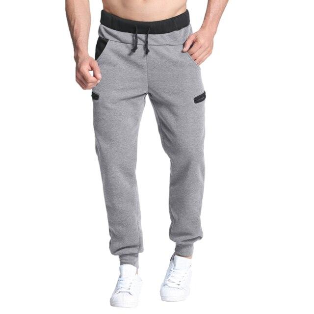 f06b8947 Осенние теплые мужские спортивные Штаны Повседневное мешковатые спортивные  штаны спортивный костюм длинные брюки шаровары для бега