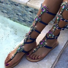 Women Sandals Rhinestone Transparent Flats Buckles Strappy Gladiator Sandals Women Flat Heels Sandals Shoes Peep Toe white peep toe buckles wedge sandals